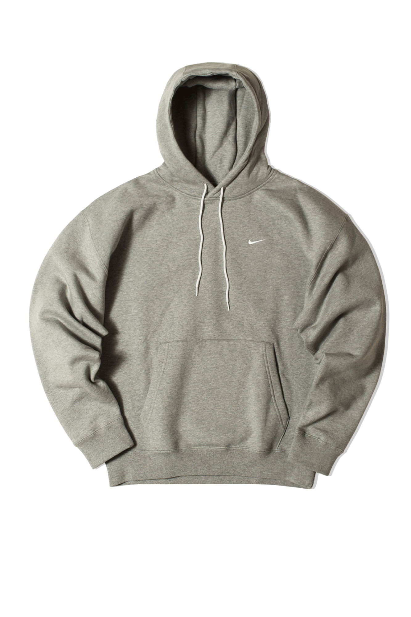 Nike Hooded sweatshirts M NRG SoloSwoosh Fleece Hooded Sweatshirt Grey CV0552-#000#063#S - One Block Down