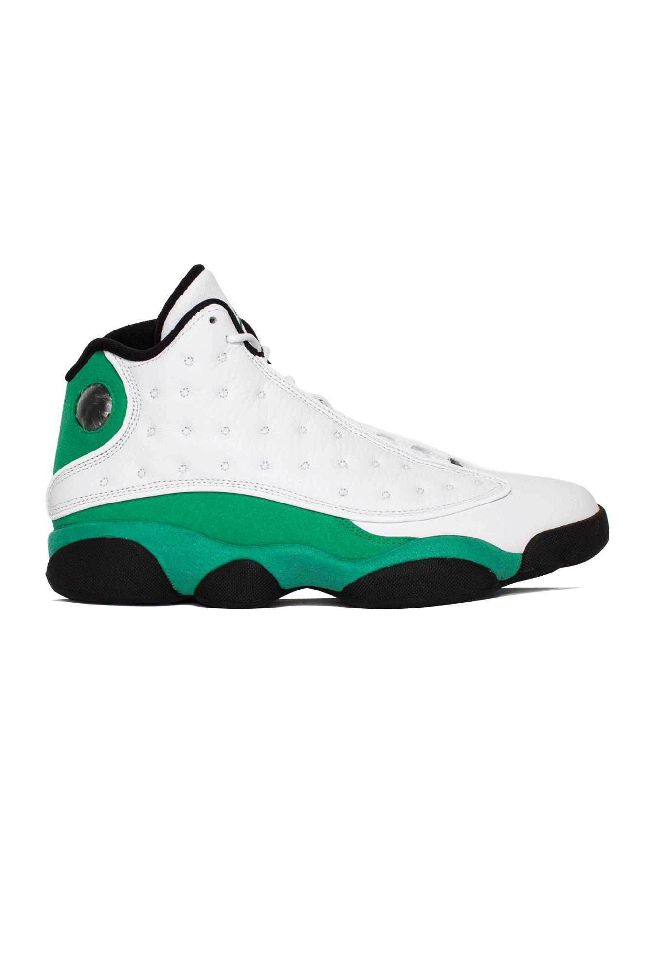 "13 Retro  ""Lucky Green"" White"