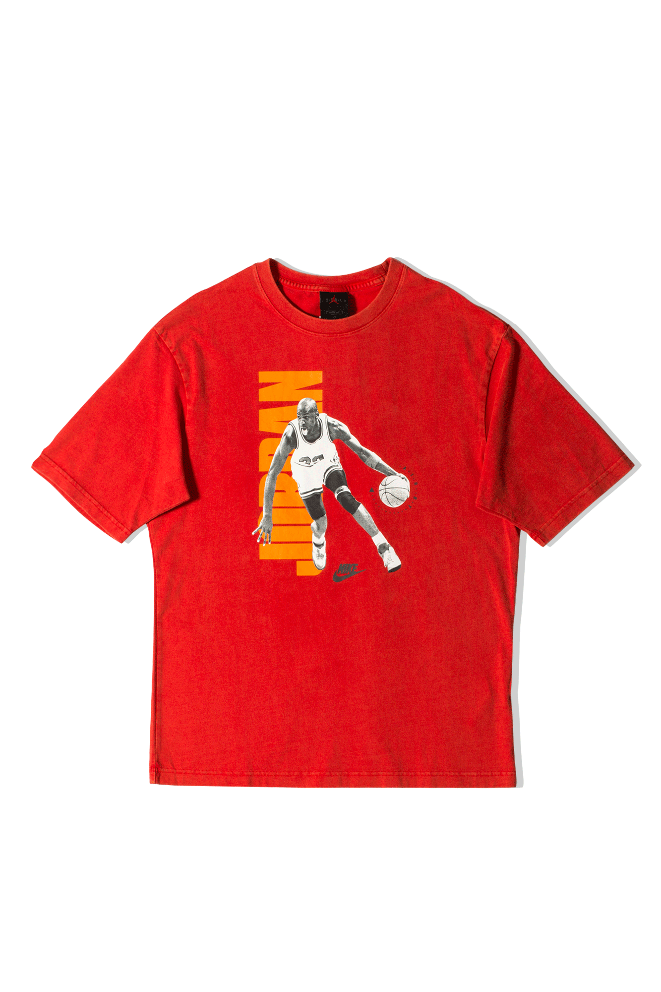 M J Vintage Crossover T-Shirt Red