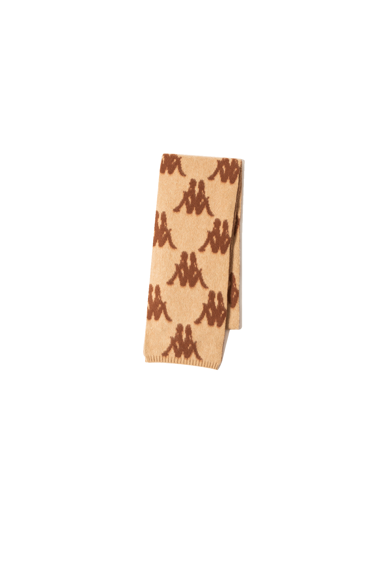 Danilo Paura x Kappa Knitwear Stefan Scarf All Over Brown DPK9001#000#721#OS - One Block Down