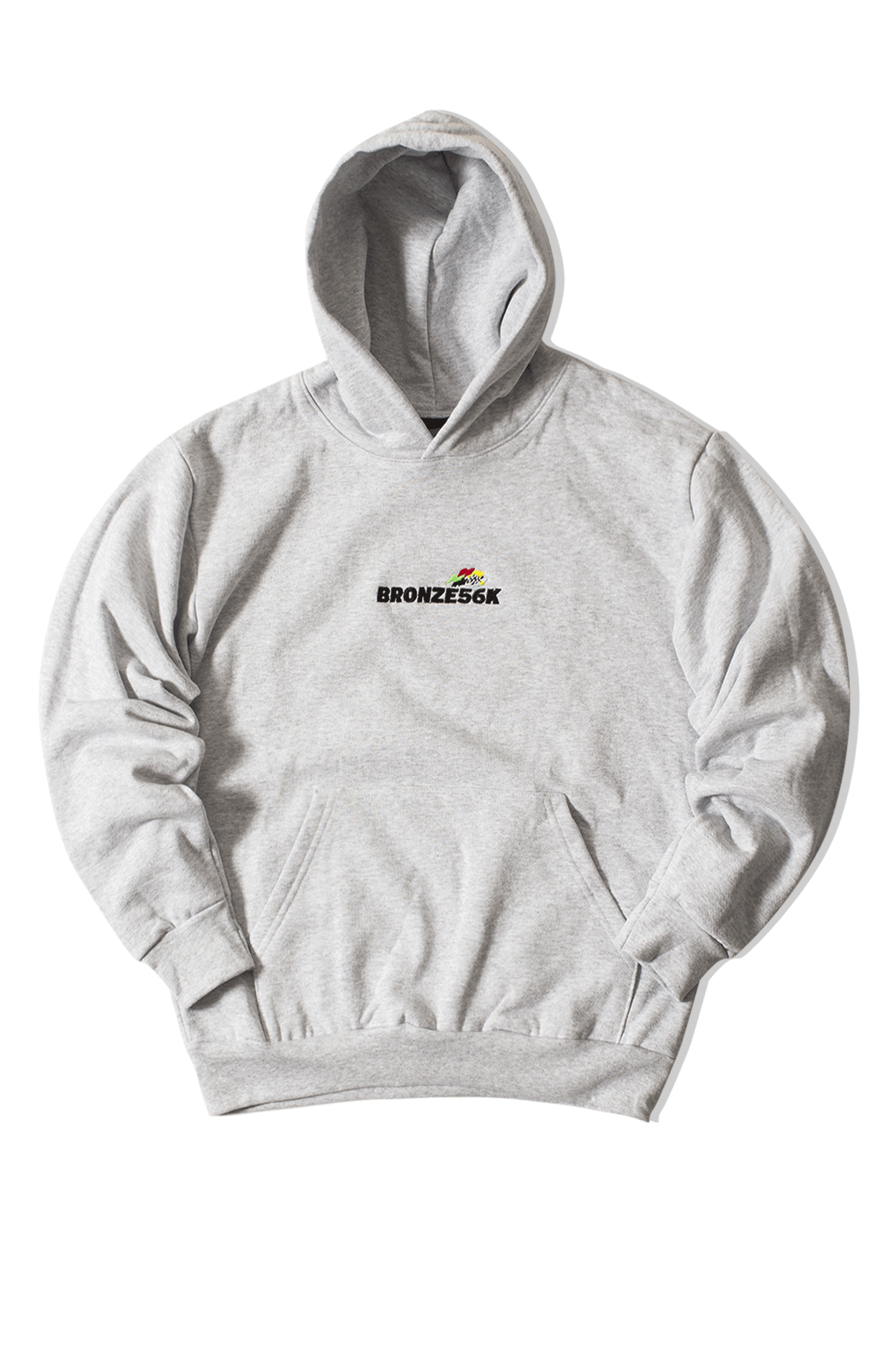 Embroidered Daytona Hoody Grey