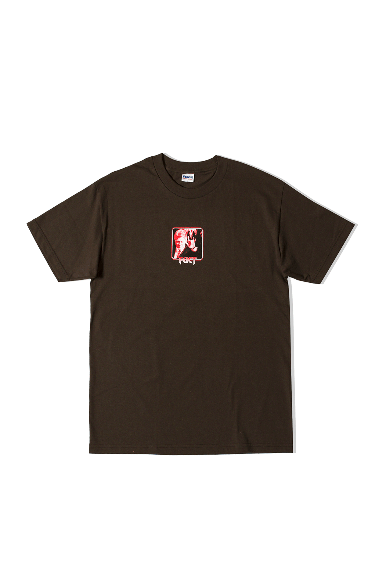 SATANIC CLINTON T-SHIRT Brown