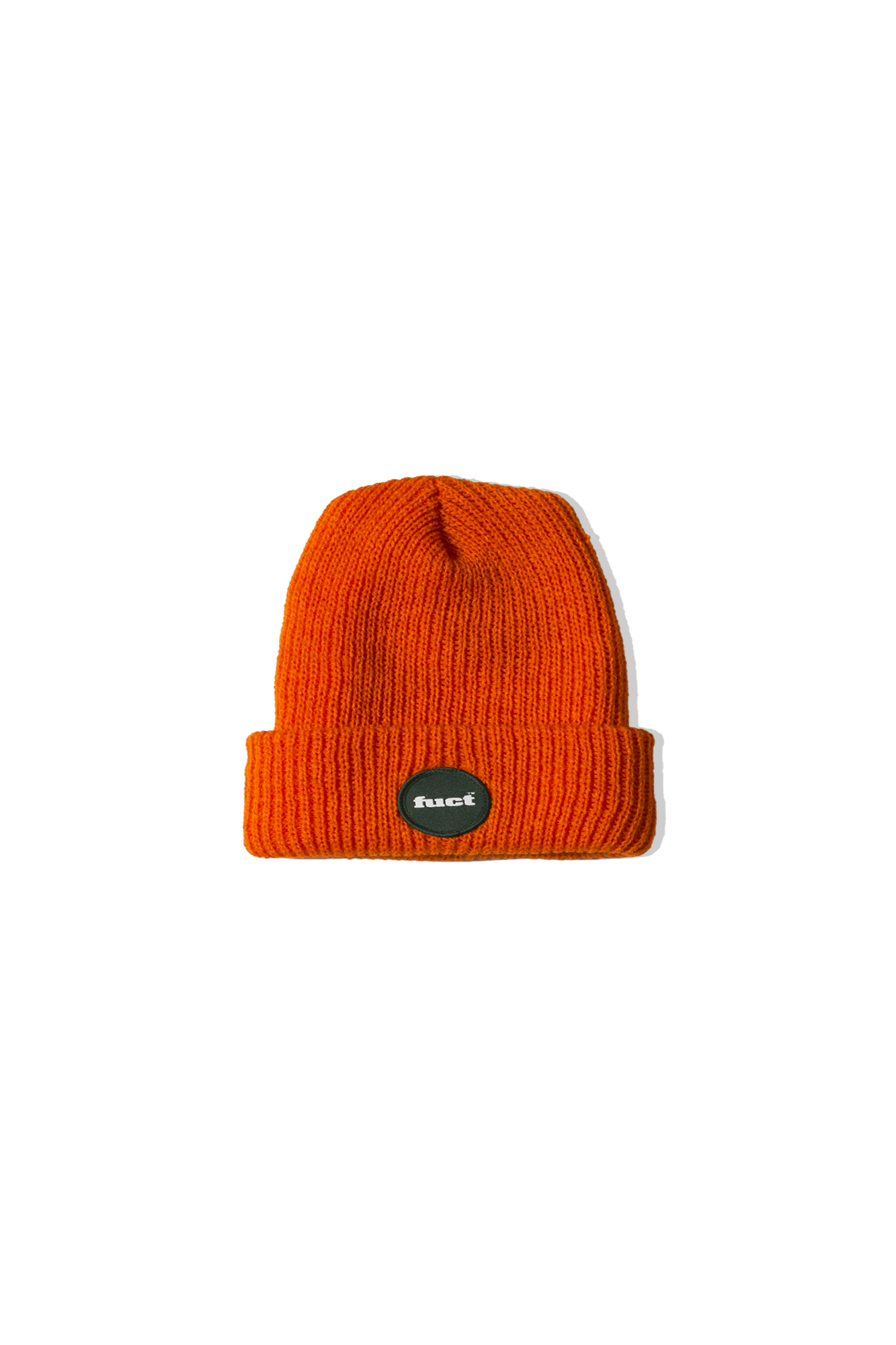Fuct Hats CIRCLE LOGO BEANIE Orange FFA19024#000#ORNG#OS - One Block Down