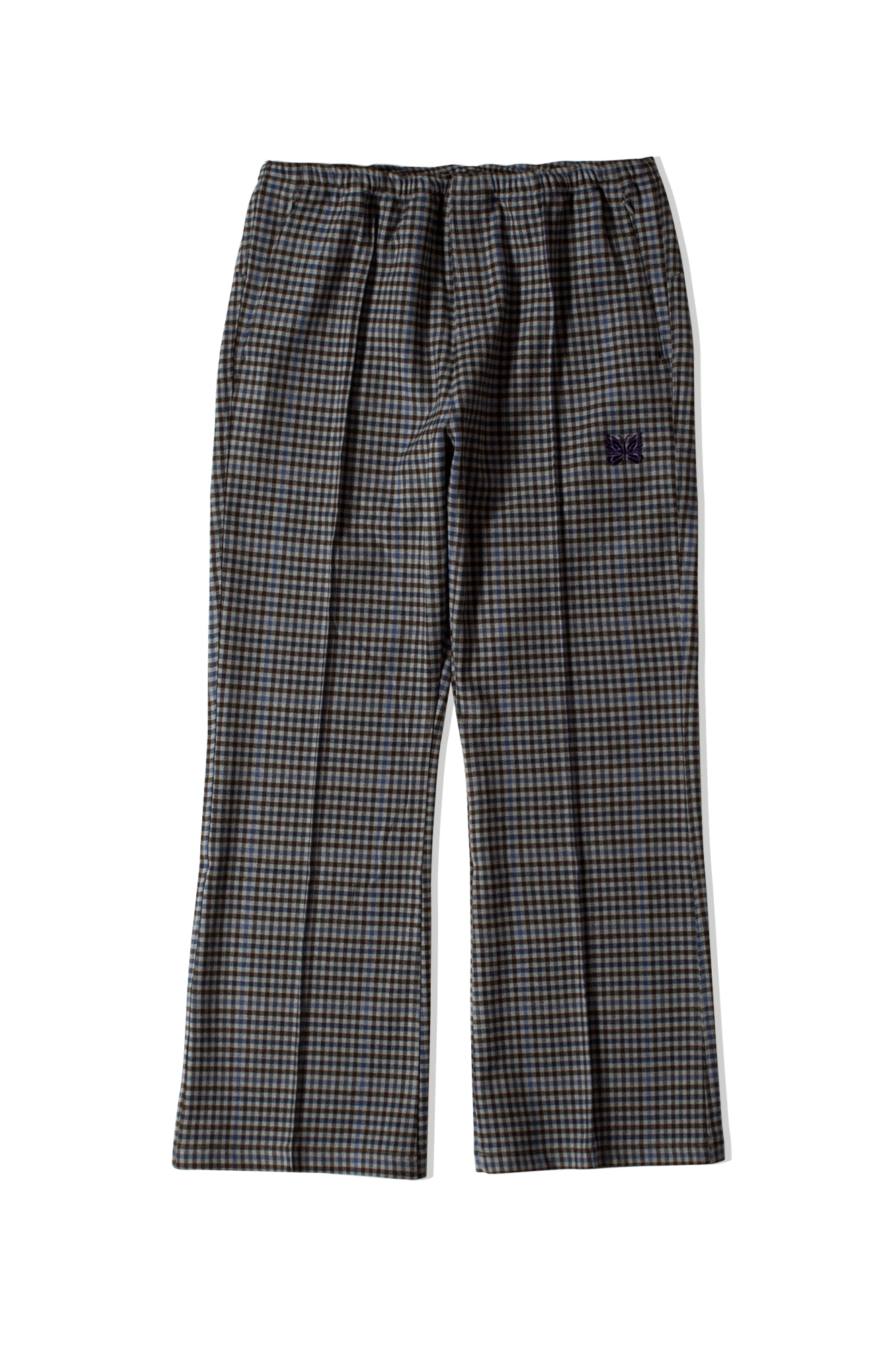 Needles Trousers Gunclub Plaid W.U. Boot-Cut Pant Grey HM162#000#GRY#M - One Block Down