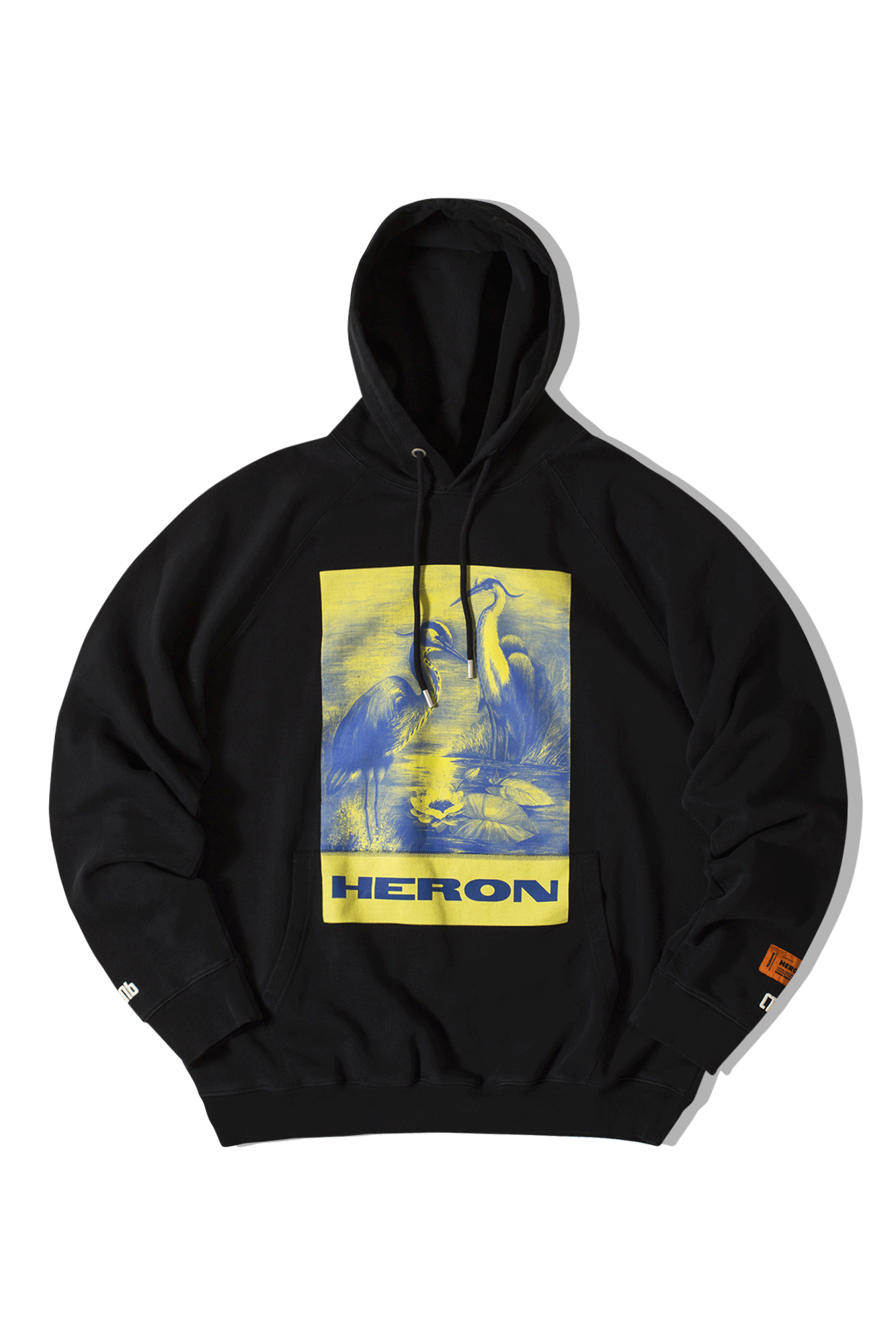 Heron Preston Sweaters Hoodie Raglan Heron Paint Black HMBB001F19#809008-#0488#XXS - One Block Down