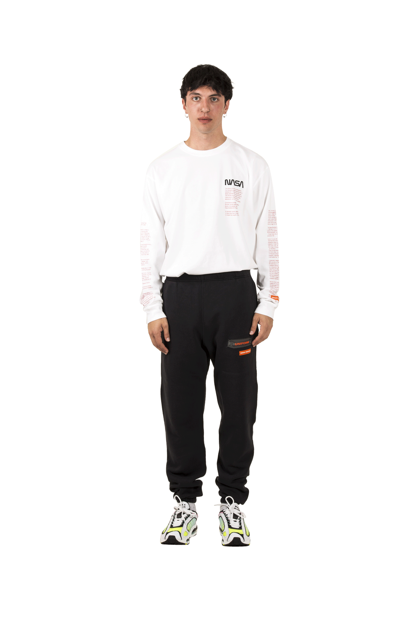 Heron Preston Sweatpants Slim Sweatpants Uniform Black HMCH005F19#808013-#0488#S - One Block Down