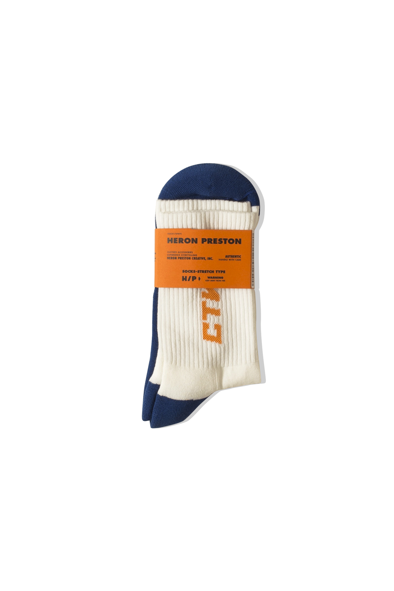 Heron Preston Socks CTNMB Long Socks Blue HMRA002F19#7690223019#BLU#S - One Block Down