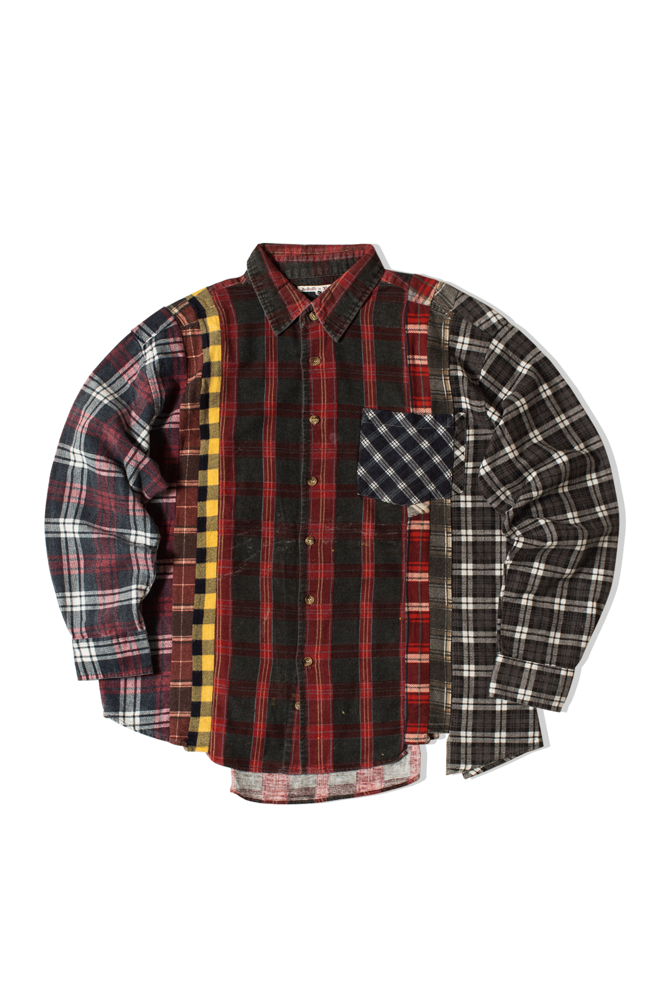Needles Shirts 7 Cuts Flannel Shirt Multicolor IN240-M#000#MLT#M - One Block Down