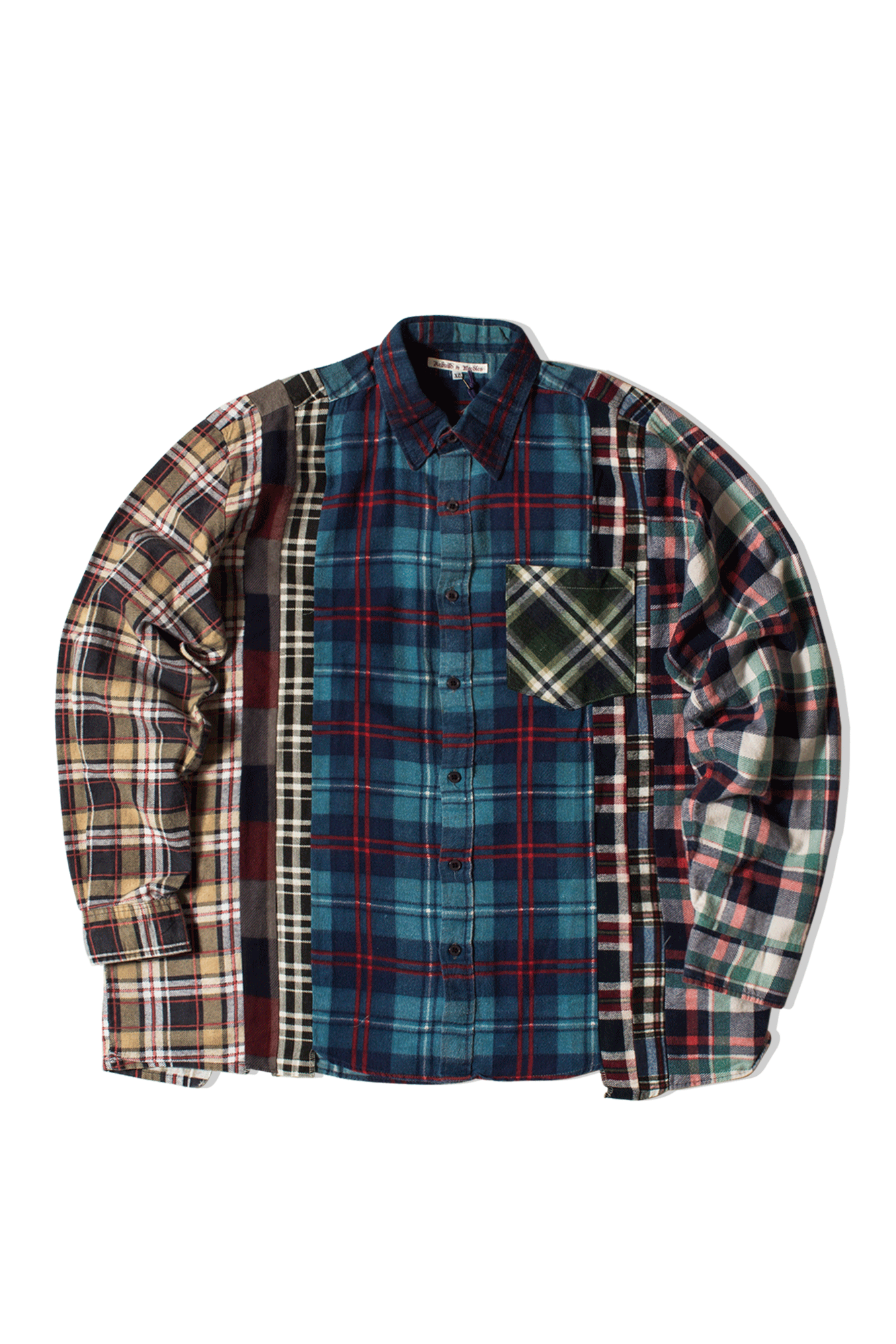 Needles Shirts 7 Cuts Flannel Shirt Multicolor IN240-XL#000#MLT#XL - One Block Down