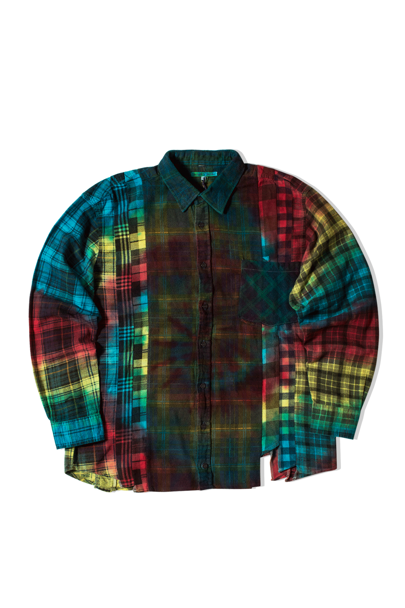 Needles Shirts Tie Dye 7 Cuts Flannel Shirt Multicolor IN241-M#000#MLT#M - One Block Down