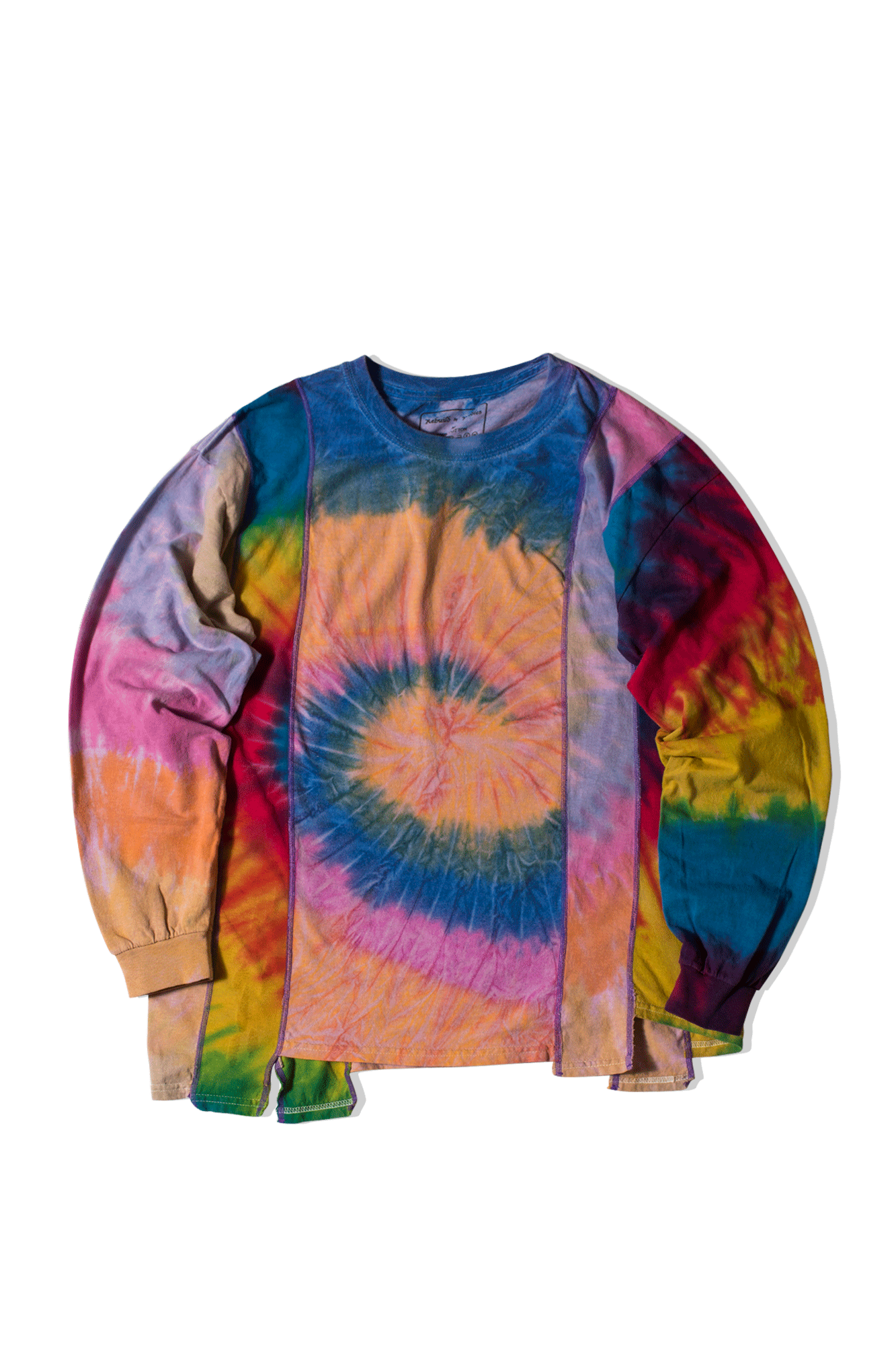 Needles Long sleeve T-Shirts Tie Dye 5 Cut LongSleeve T-Shirt Multicolor IN251#000#MLT#S - One Block Down