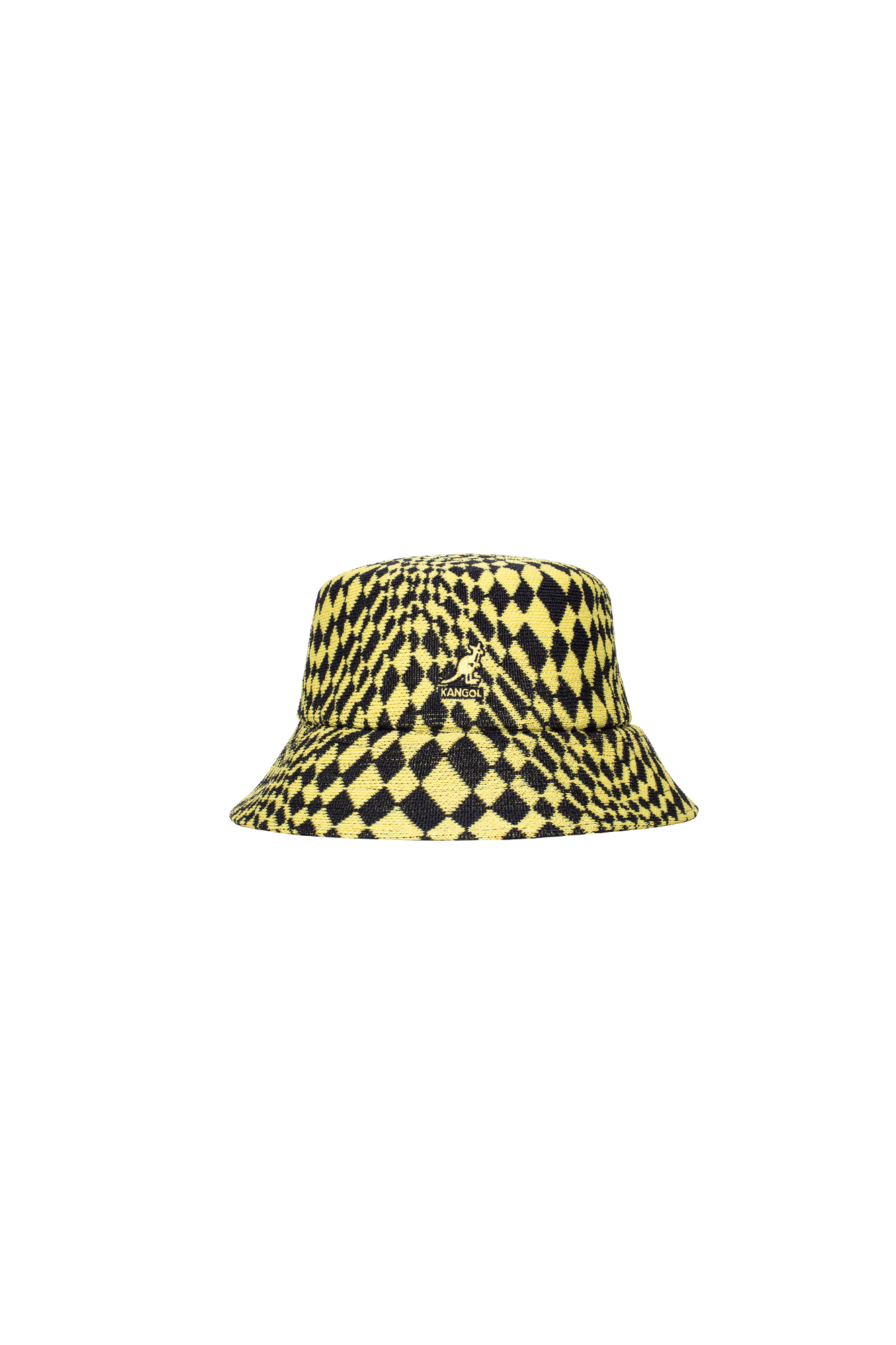 Warped Check Bucket Yellow