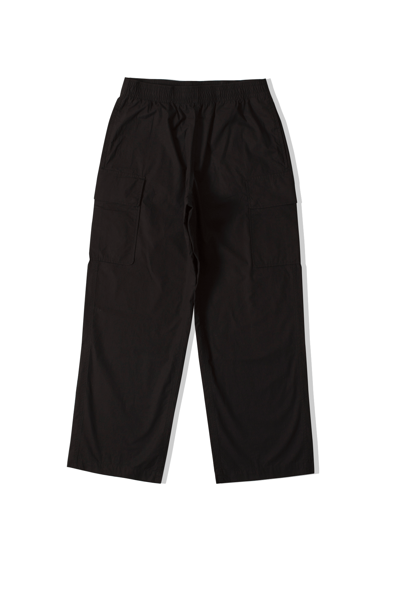 Rest Trousers Washed Black Parachute Cotton Black