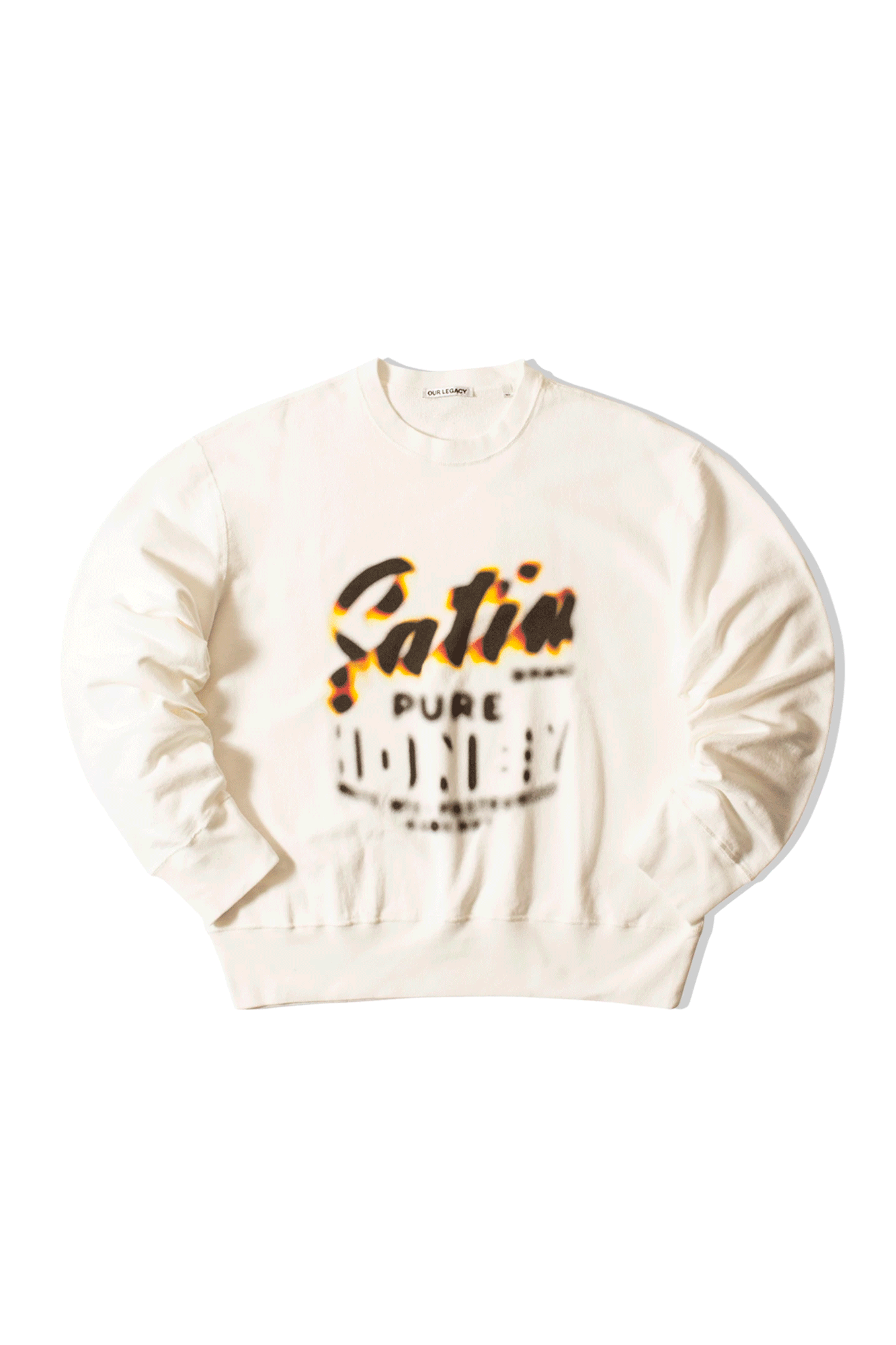Patch Sweat Honey Print White