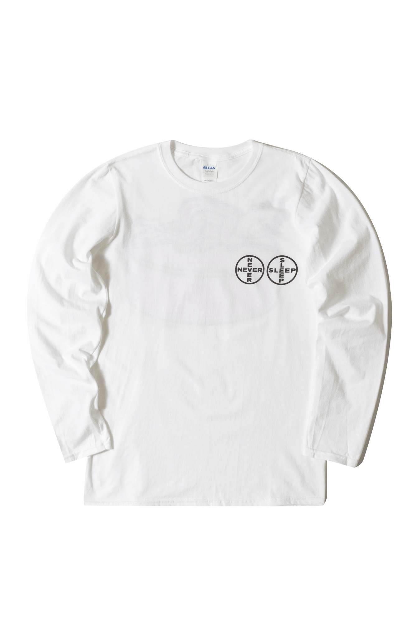 Gabber Eleganza Long sleeve T-Shirts Never Sleep Pill Long Sleeve White NVRSLPILL#000#WHT#S - One Block Down
