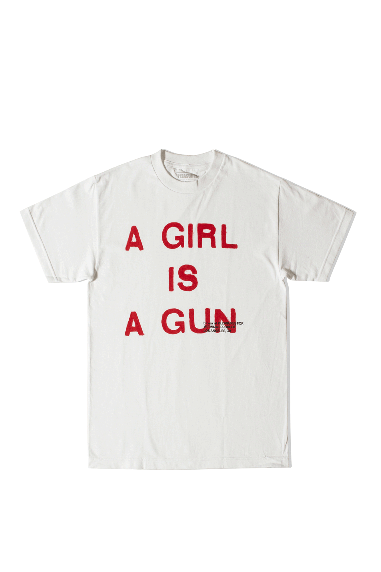 GIRL IS A GUN T-SHIRT White