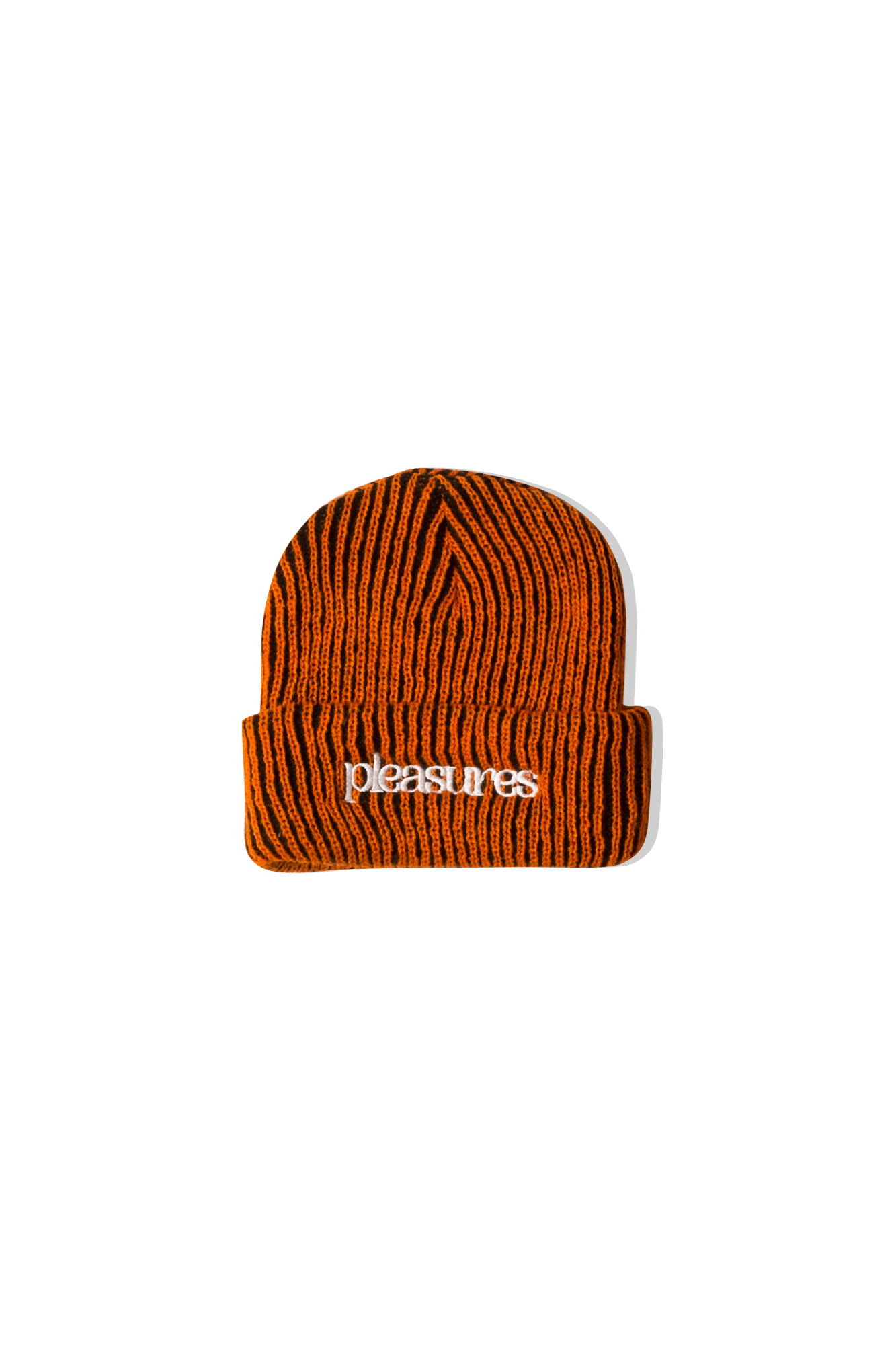 Purpletion Striped Beanie Orange Orange
