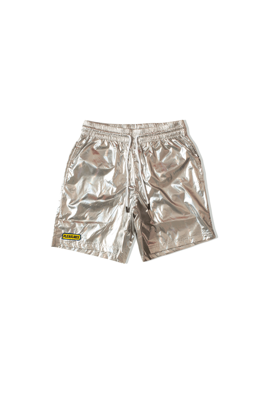 Pleasures Shorts Liquid Metallic Shorts Grey P19S105007#040#SILV#S - One Block Down