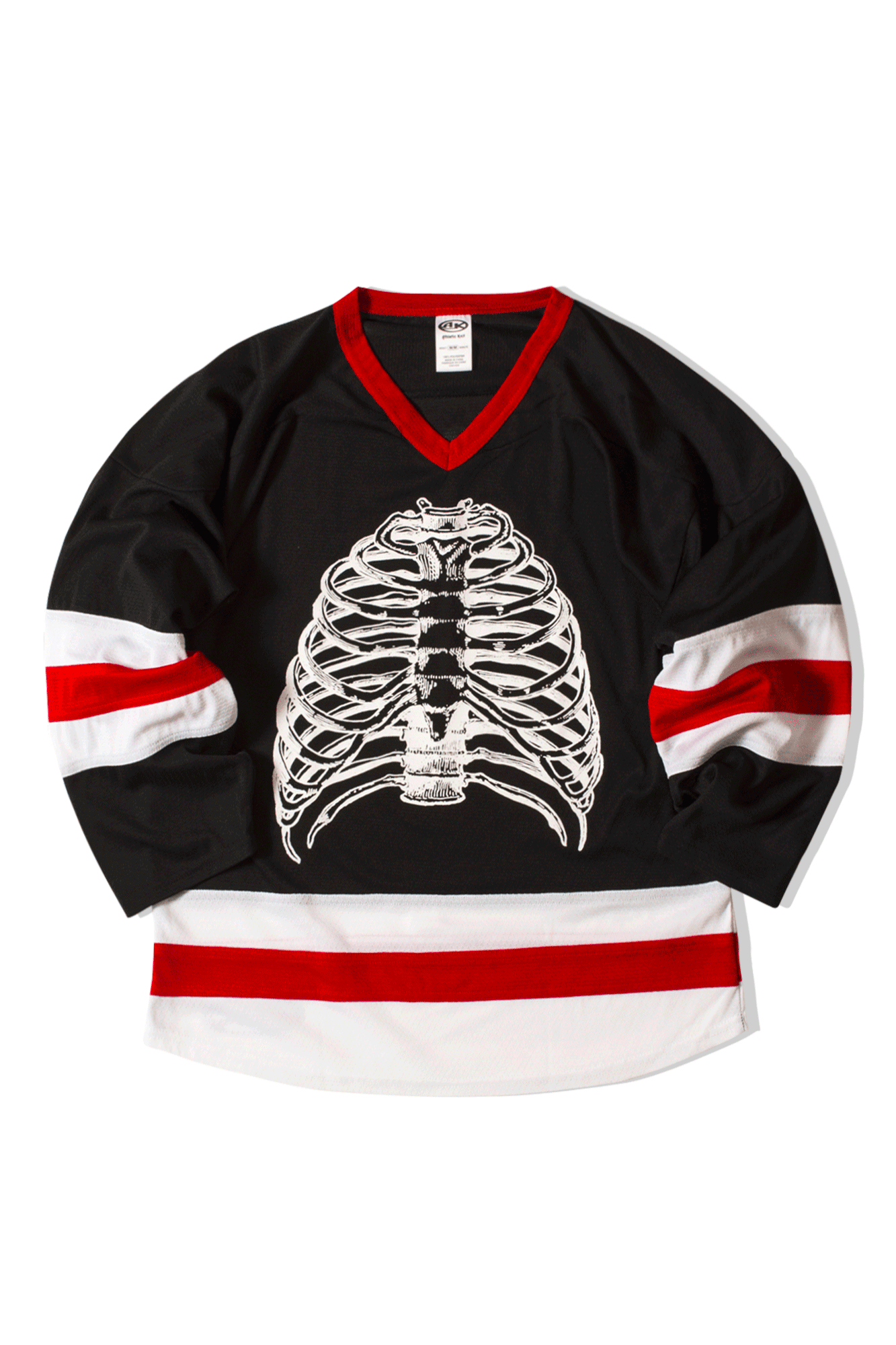 Pleasures Long sleeve T-Shirts Ribs Hockey Jersey Black P19S109037#080#BLK#S - One Block Down