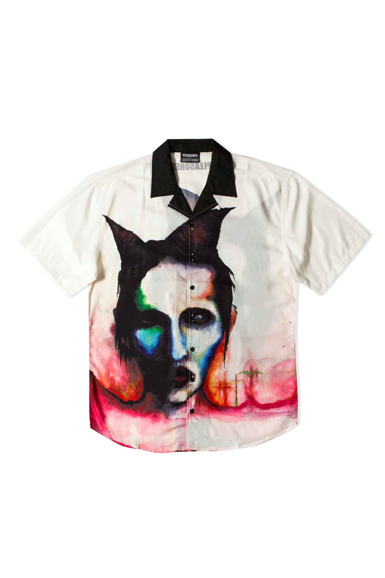 Watercolor Camp Shirt x Marilyn Manson Black