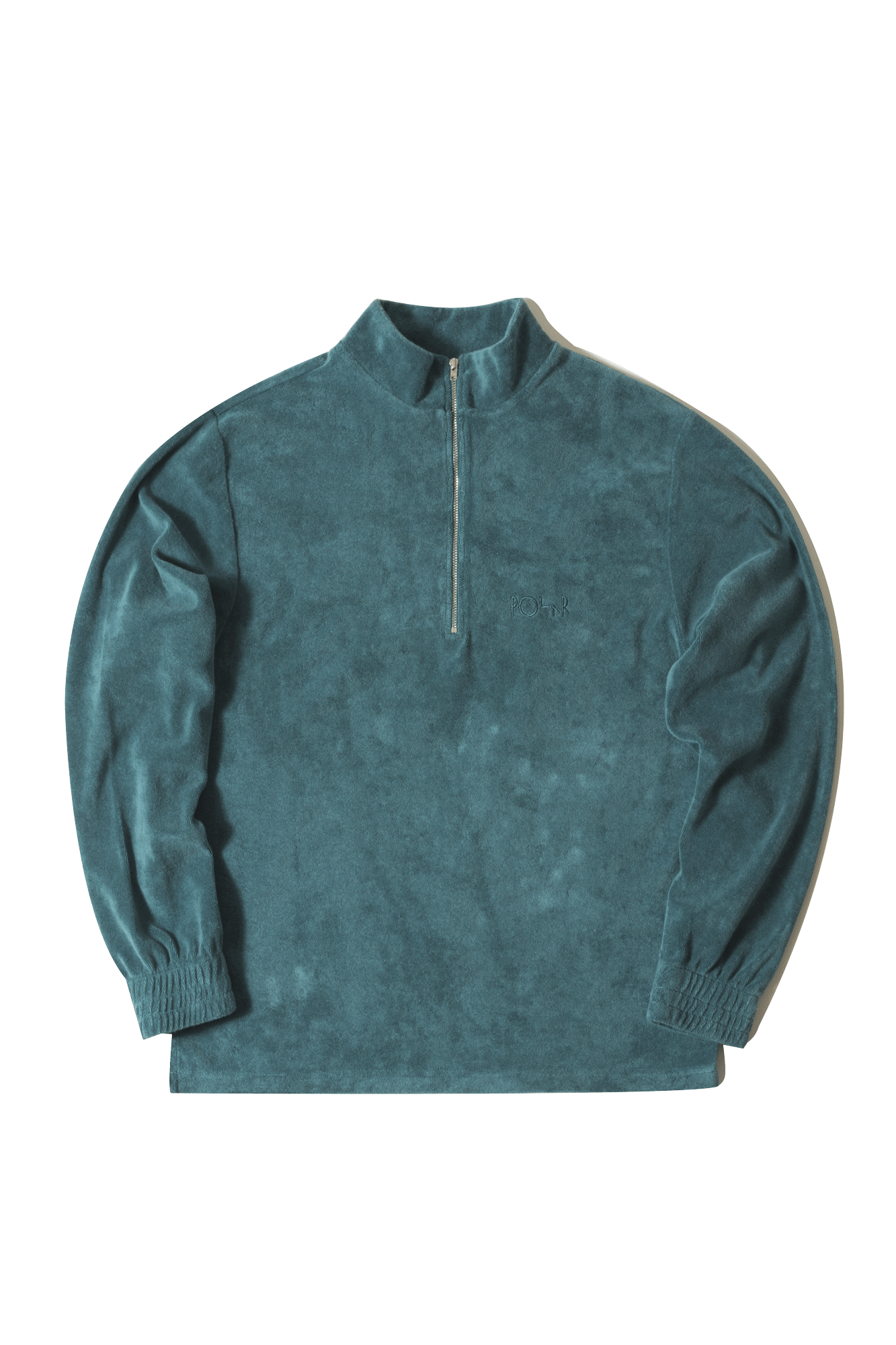 Polar Sweaters Terry Halfzip Multicolor POLHALFZIP#000#TEAL#XS - One Block Down