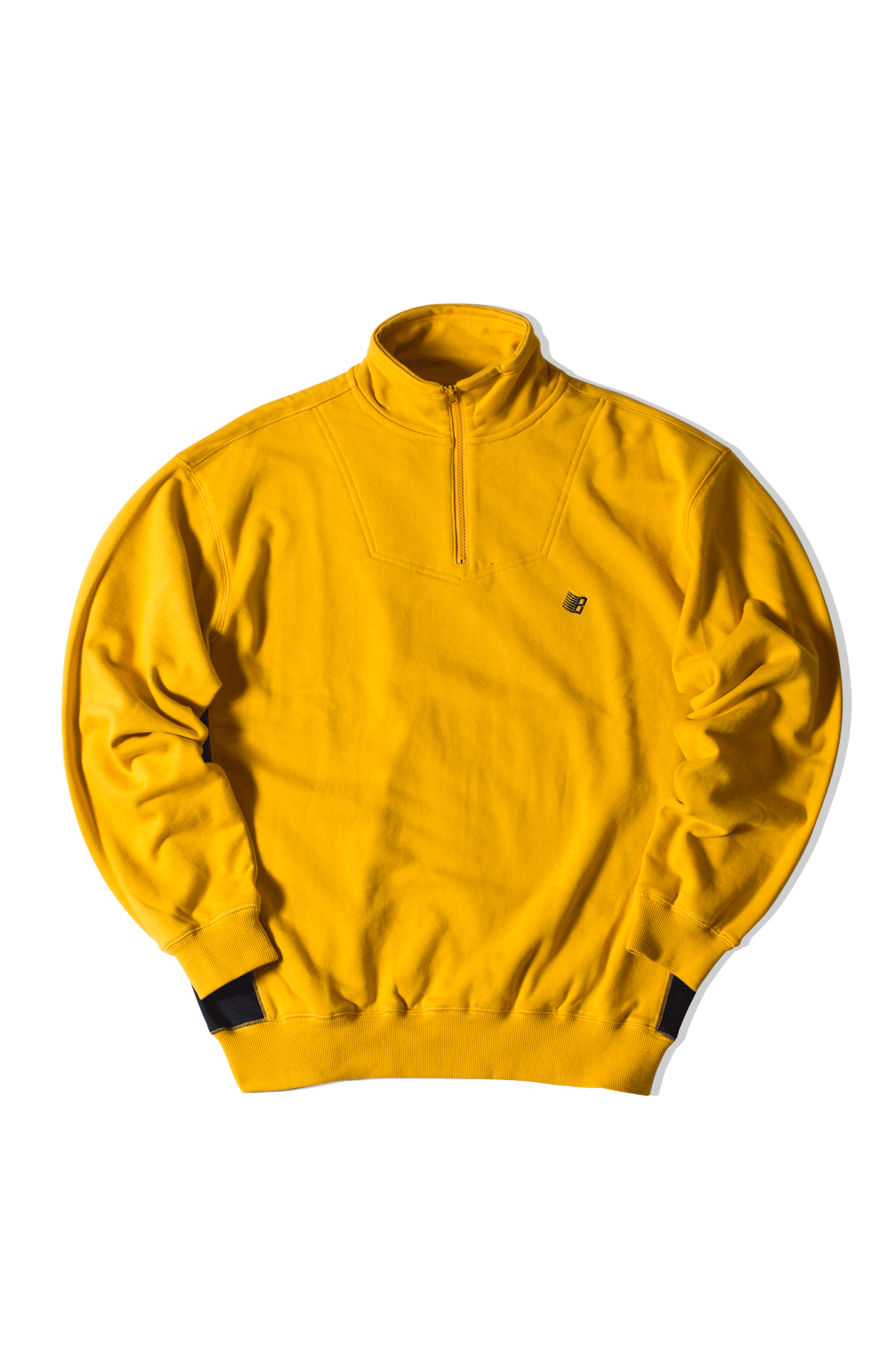 Quarter Zip-up sweatshirt Yellow
