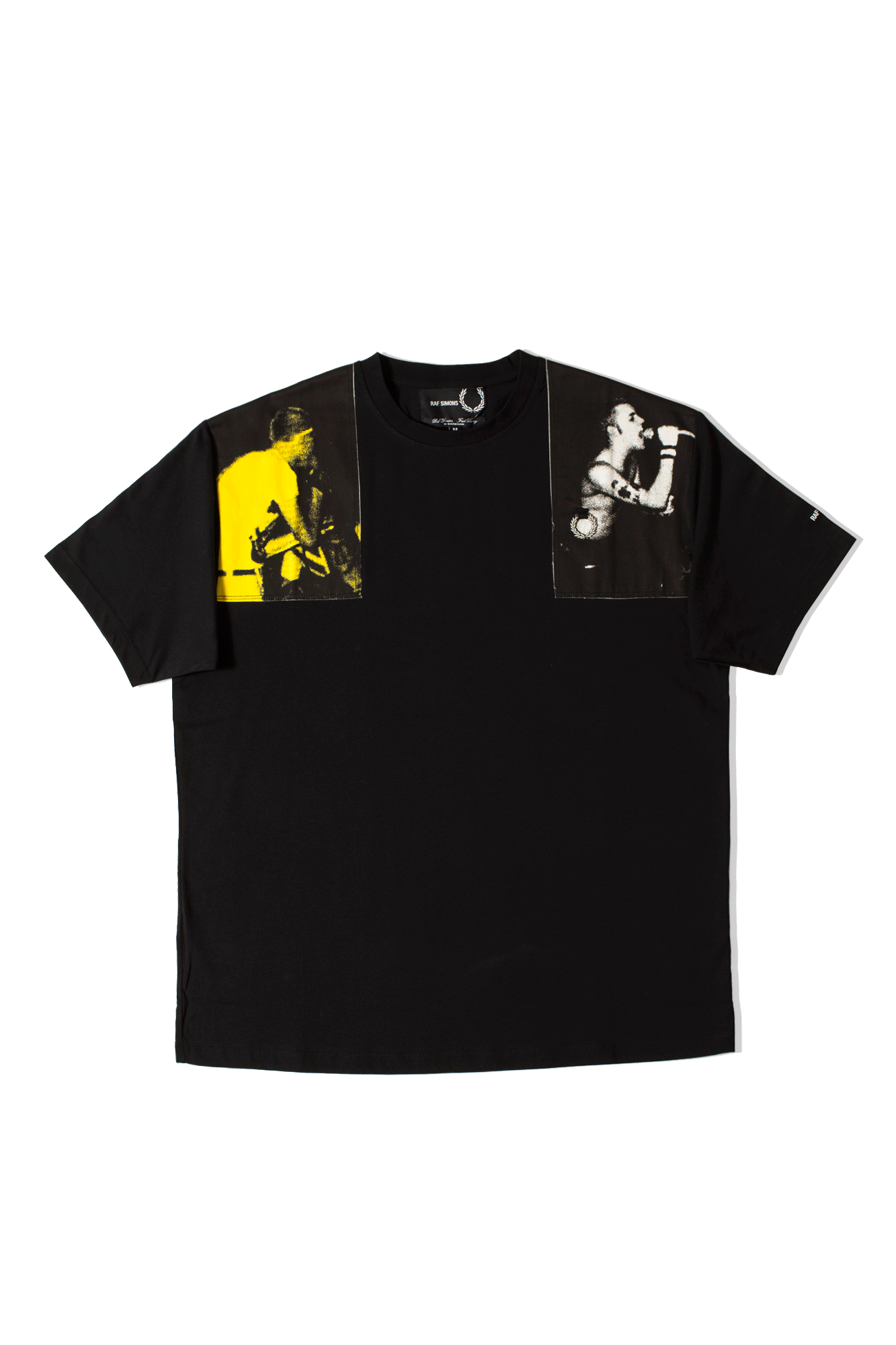 Raf Simons Printed Panel T-Shirt Black