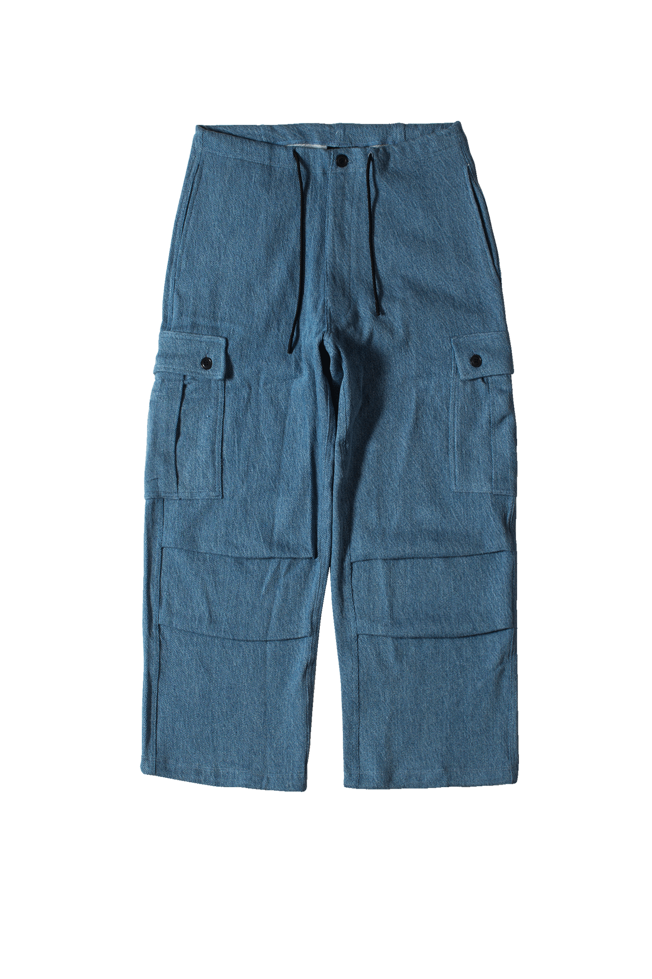 Acidic Indigo Denim Cargo Pants Blue