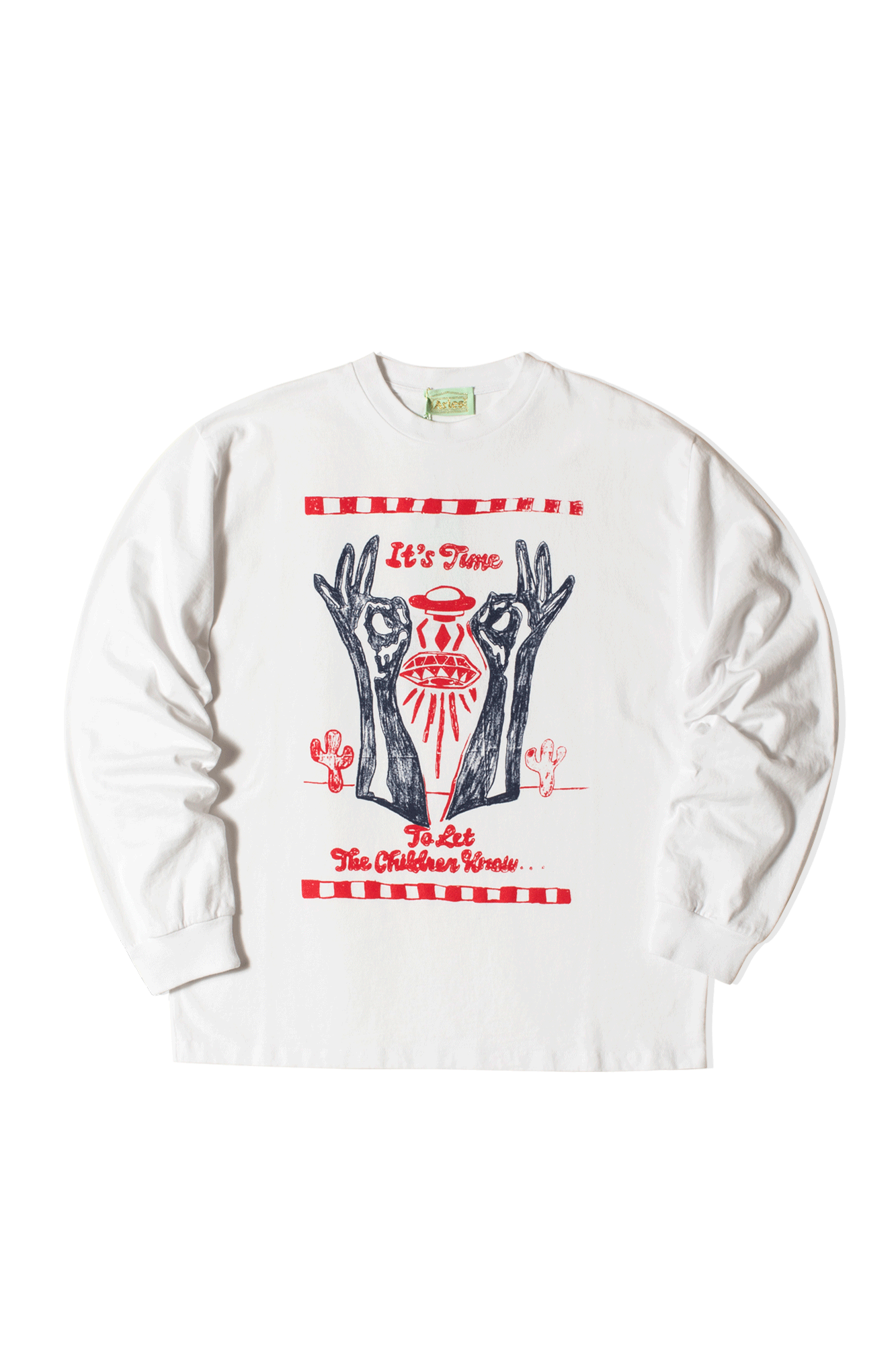 Aries Long sleeve T-Shirts It's Time LongSleeve T-Shirt White SRAR60007#000#WHT#M - One Block Down