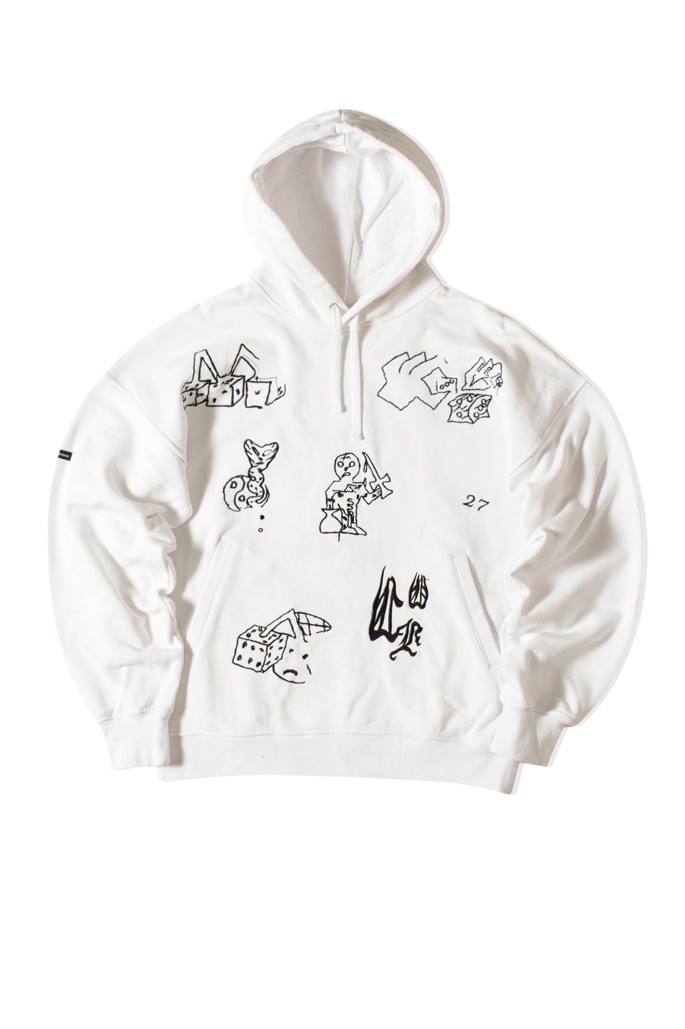 Play All Day Hooded Sweatshirt White