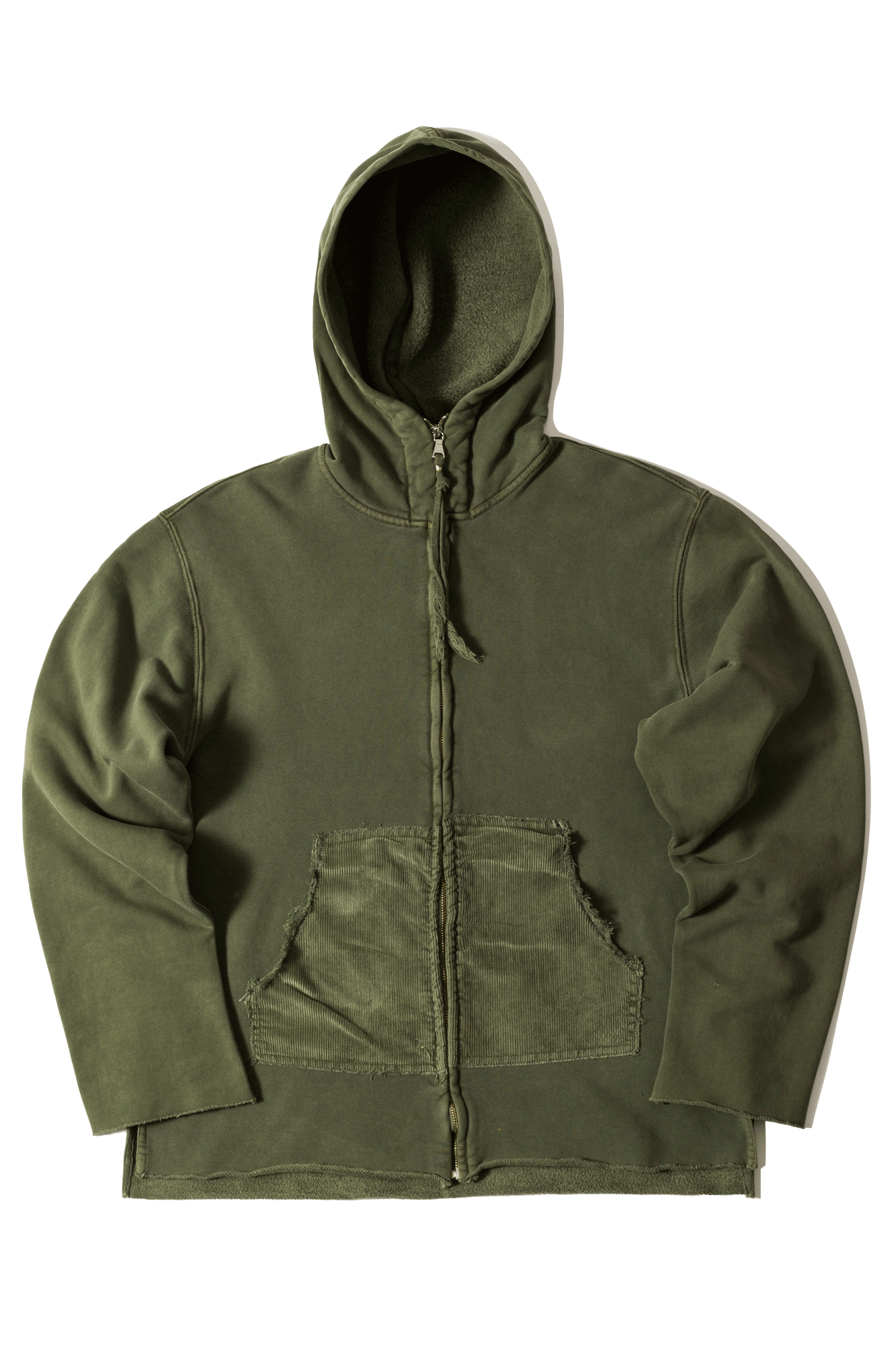 Dr. Collectors Zip-up sweatshirt N1 Hood Heavy Fleece Green SWEATN1#000#GRN#XS - One Block Down
