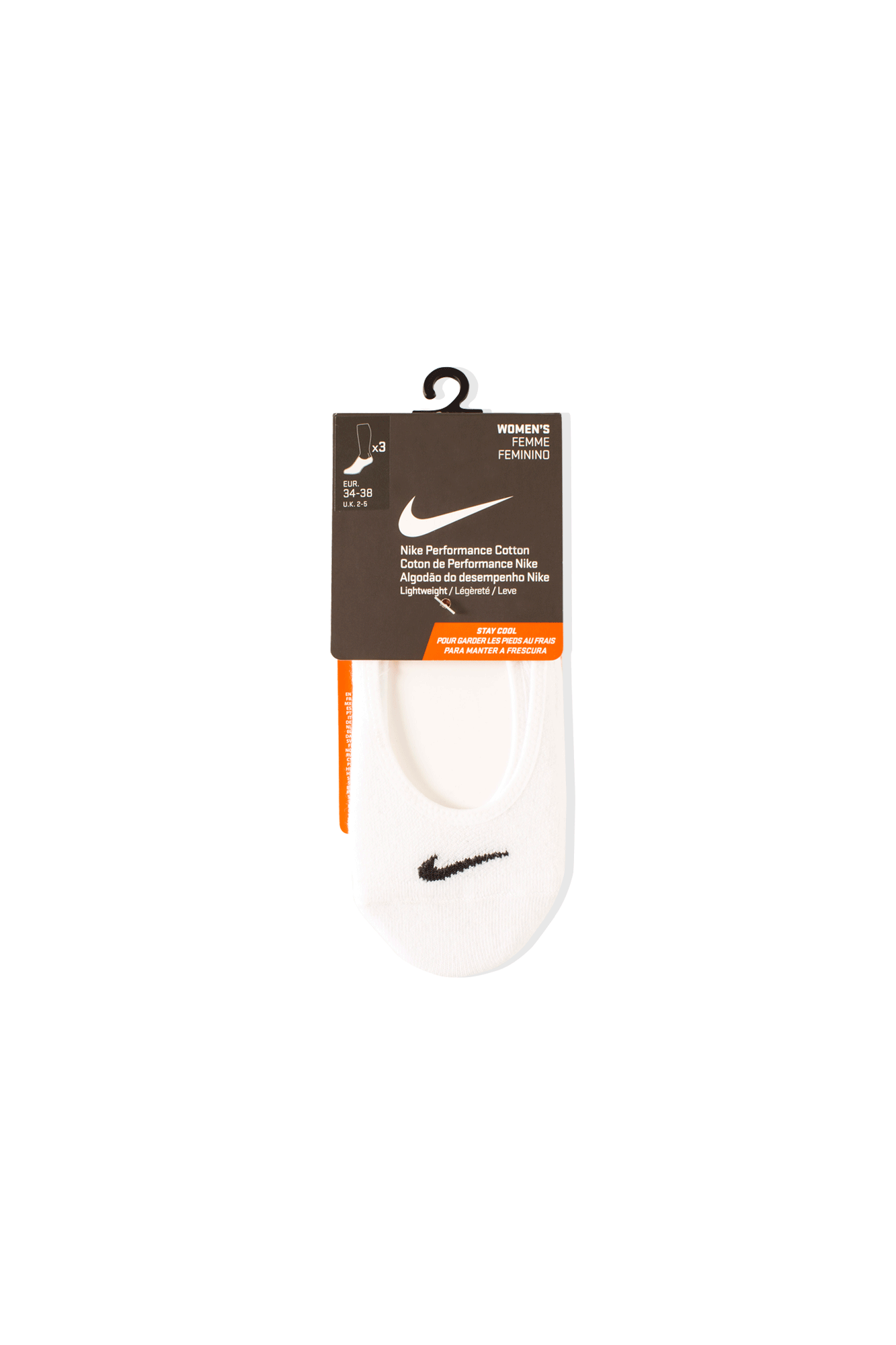 WMNS Lightweight Footie Training Sock White