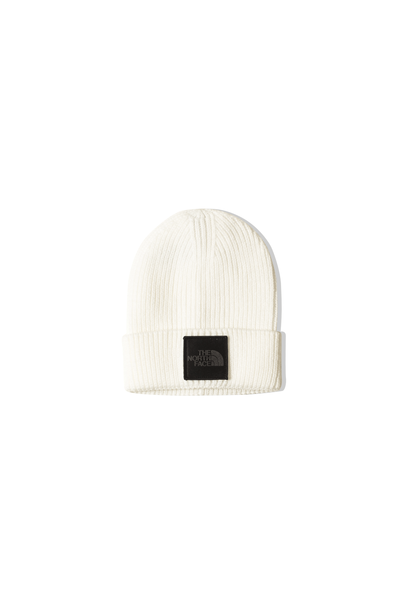 TNF Logo Box Cuffed Beanie White