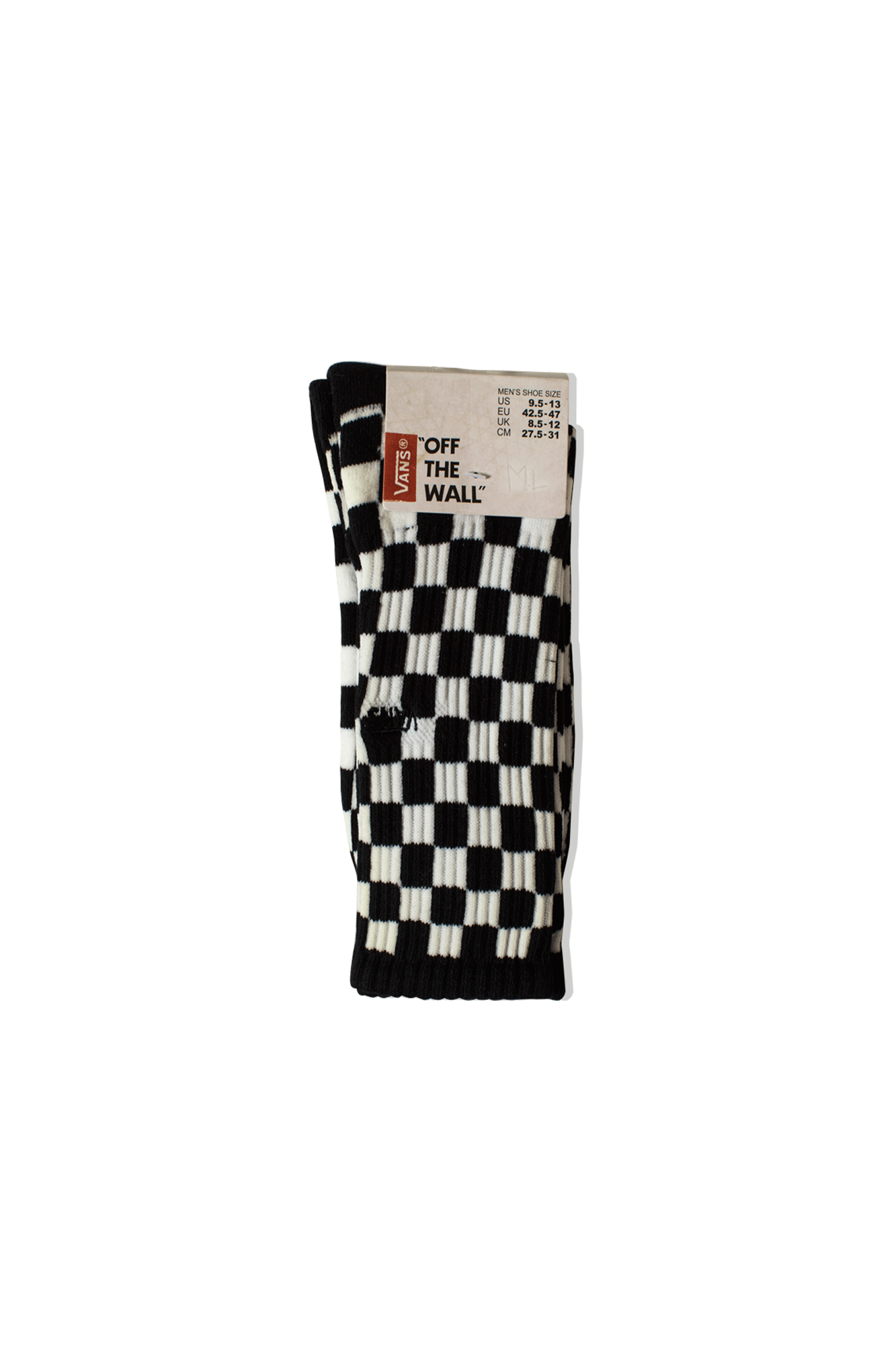 Checkboard Socks Black
