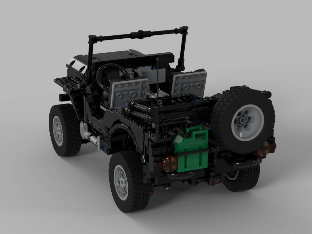 Jeep Willys (Paramedic Version) with Trailer
