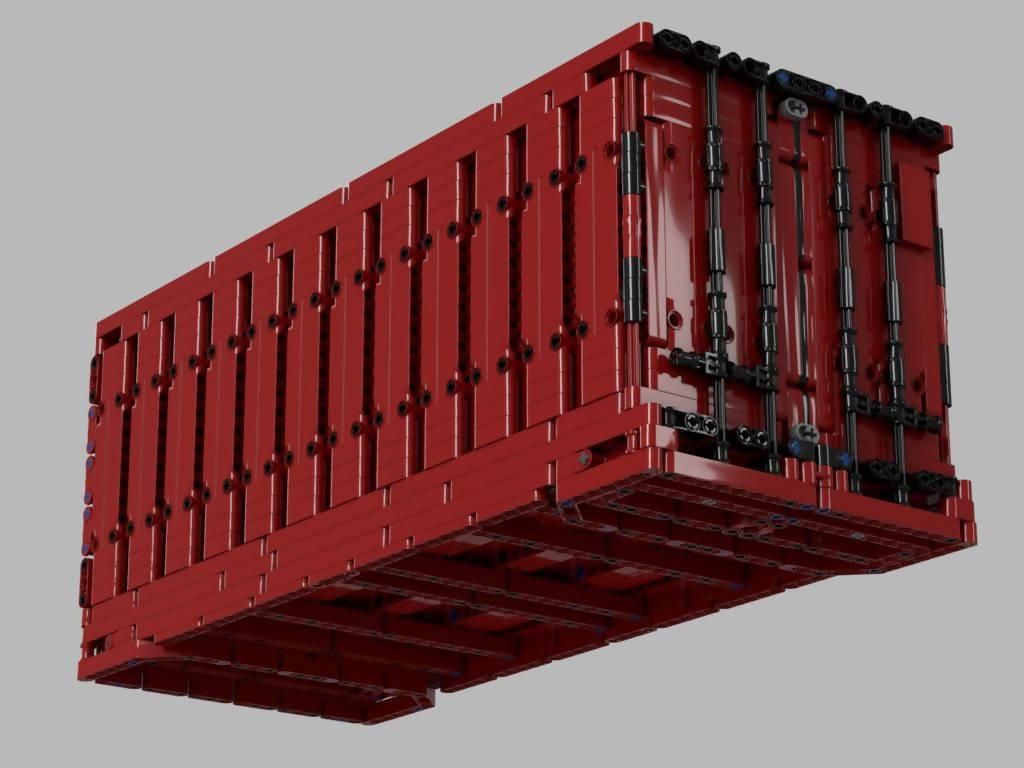 20' Overseas Container in Scale 1:15 (50 x 20 x 21 Studs)