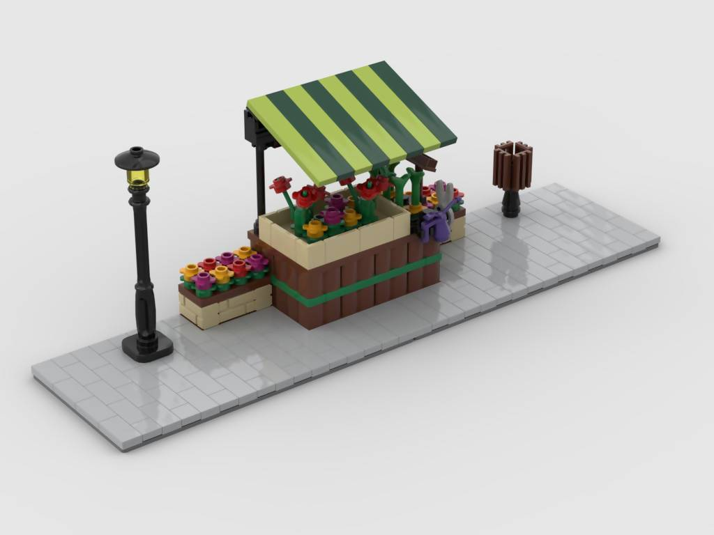 Modular Corner Flower Stand - Turn any modular into a corner - BuildAMOC