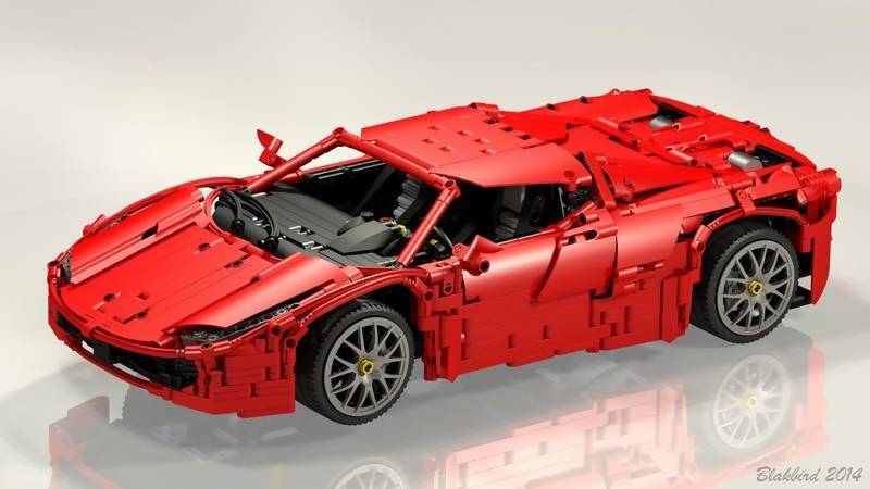 Ferrari Red Spyder - BuildAMOC