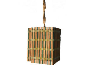 Double Colour Bamboo Straw Lamp shade