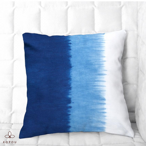 Two Tone Indigo Cushion Cover