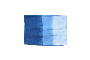Two Indigo Rectangle Cushion Cover