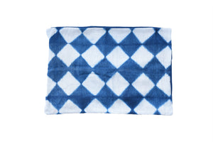 Indigo White Tiles Rectangle Cushion Cover