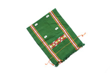 Load image into Gallery viewer, Hand Woven Green Table Runner
