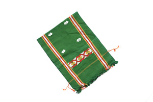 Hand Woven Green Table Runner