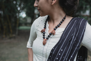 Reetha, Chandan & Peach seeds Neck piece