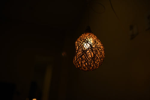 Banana Fiber Bird's Nest Lamp Shade