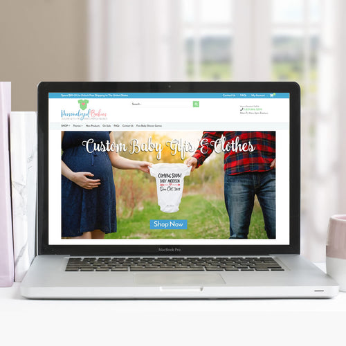Personalized Babies Website Redesign