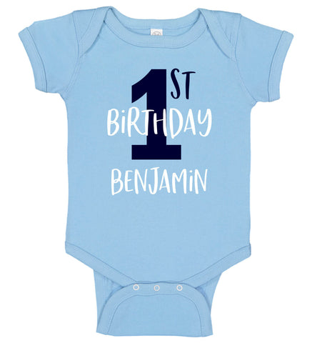 Image of 1st Birthday Boy Onesie - Personalized Babies