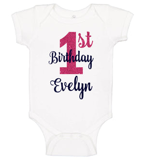 1st Birthday Girl Onesie - Personalized Babies