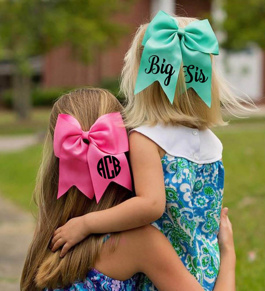 Large Monogrammed Bow
